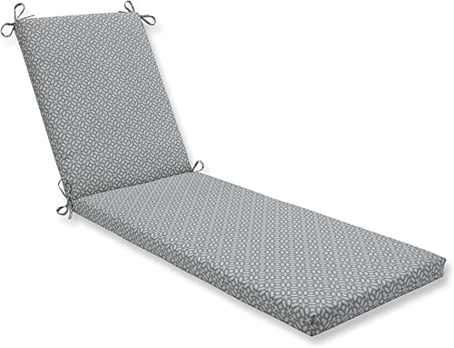 Pillow Perfect Outdoor Indoor In the Frame Pebble Chaise Lounge Cushion, 80 in. L X 23 in. W X 3 in. D