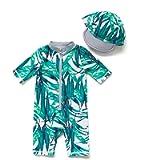 BONVERANO Baby Boys Sunsuit UPF 50+ Sun Protection One Piece Swimsuit with Zipper