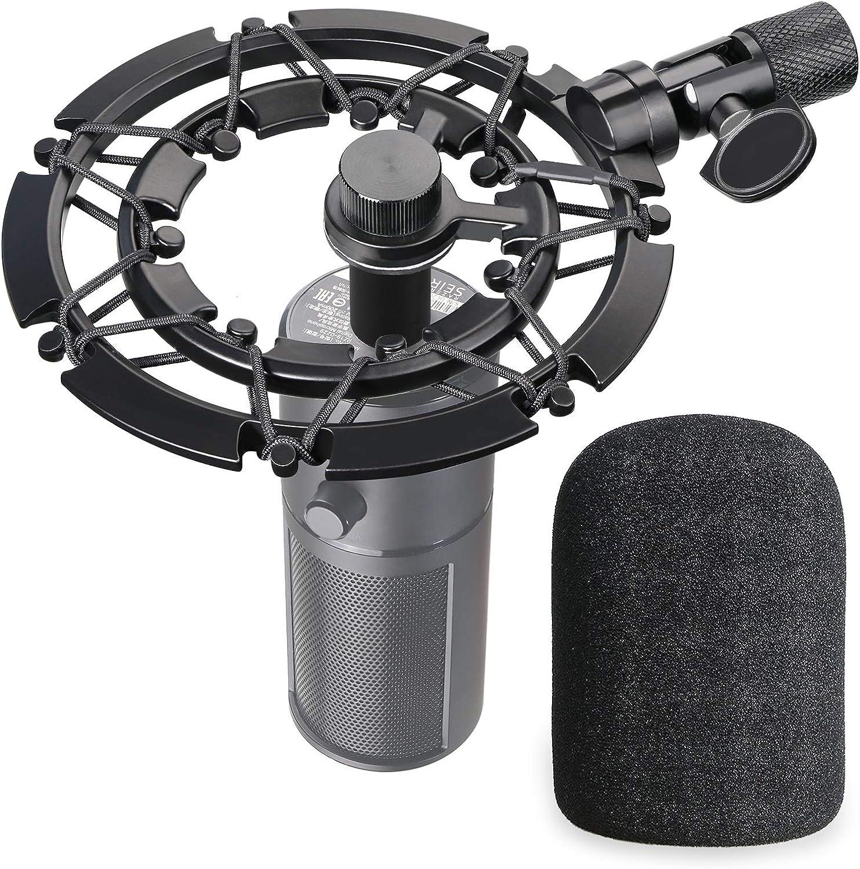Razer Seiren X Mikrofonspinne Mit Popschutz Shock Mount Reduziert Vibration Und Verbessert Die Aufnahme Qualität Von Youshares Musikinstrumente