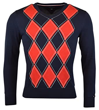 Tommy Hilfiger Mens Argyle Pullover Sweater at Amazon Men s Clothing ... 5bd8e15dca