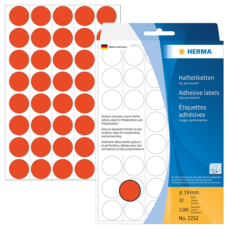 selbstklebend 32 Blatt Papier matt 20 x 50 mm Handbeschriftung Herma 2410 Vielzweck Etiketten 480 Klebeetiketten wei/ß