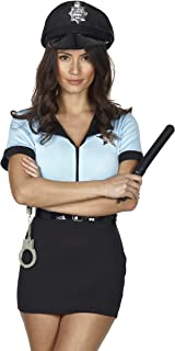 Red Ribbon Lingerie RedRibbonLingerie Valentines Gift Police Costume Women Complete Outfit Fancy Dress With Handcuffs  sc 1 st  Amazon UK & Fever Adult Womenu0027s Corrupt Cop Costume Dress Belt and Hat Cops ...