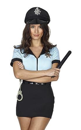 Disfraz completo de policía para mujer, con esposas, cinturón y ...