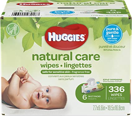Packaging May Vary Huggies One and Done Baby Wipes Flip Top 32 Count