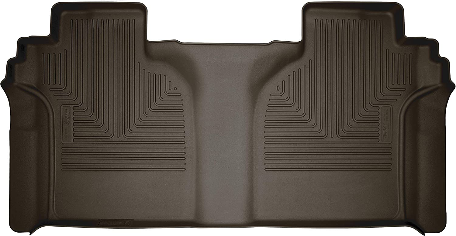 Husky Liners 54200 X-act Contour 2nd Seat Floor Mat Fits 2019 1500 Full Coverage 2020 Chevrolet Silverado//GMC Sierra 2500//3500 Crew Cab-with Carpeted Factory Storage Box