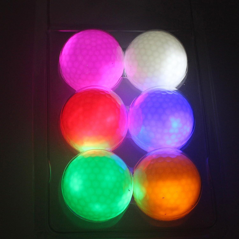 kofull NightゴルフボールLEDライトUp連続明るい6個6色公式サイズ重量定数on for Golfer   B0787SPSBH