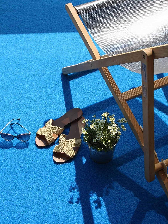Meterware Rot Blau Grau Braun Beige oder Anthrazit Gr/ö/ße:133 x 800 cm Balkon Terrasse Camping Farbe:Grau-Blau havatex Rasenteppich Kunstrasen mit Noppen 1.550 g//m/² wasserdurchl/ässig