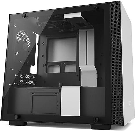 NZXT H200 - Caja de PC Gaming Mini-ITX - Panel de vidrio templado - Preparada para refrigeración líquida - Blanco/Negro - Versión 2018: Amazon.es: Informática