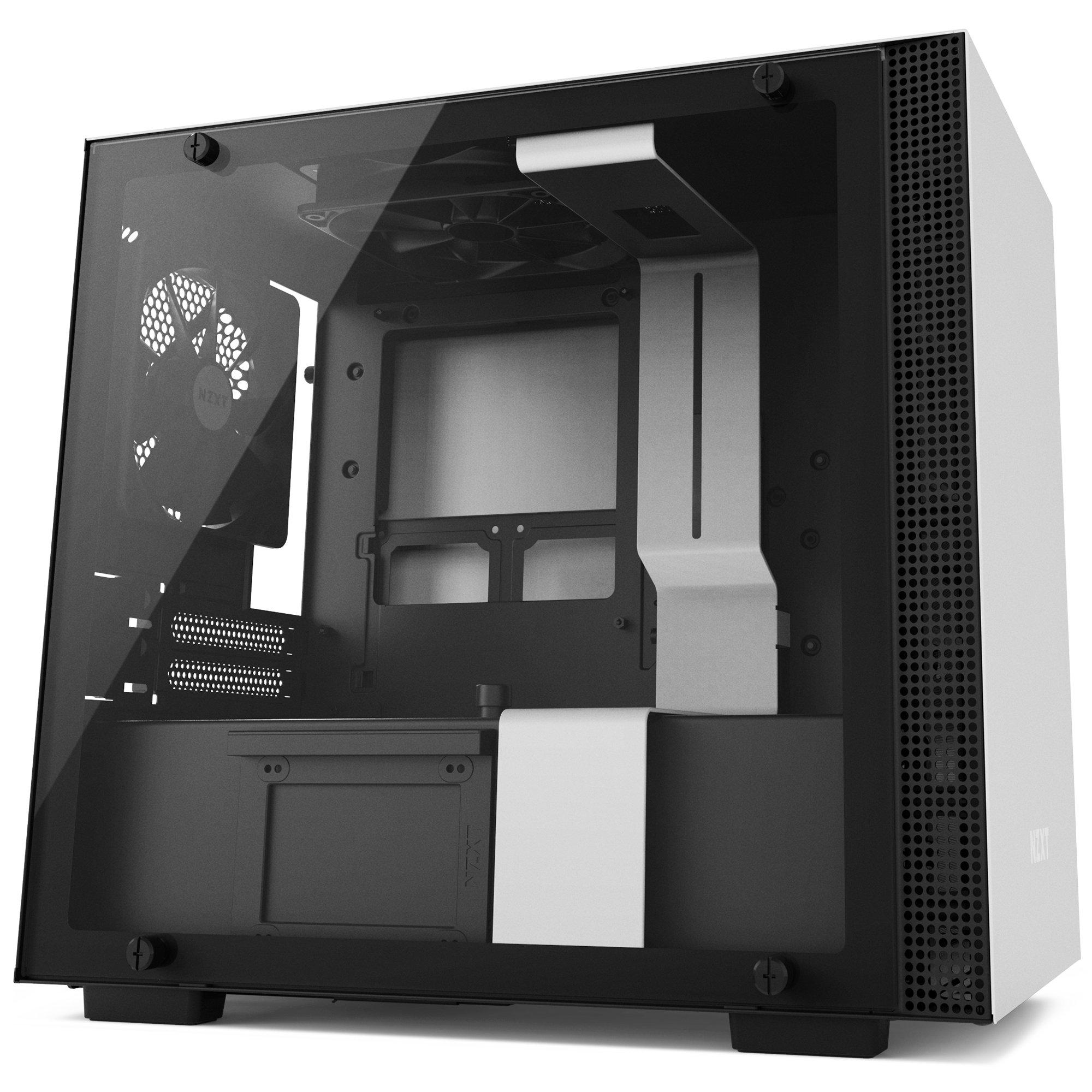 NZXT H200 Desktop Computer Case, CA-H200B-W1, White/Black