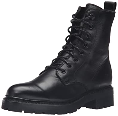 FRYE Womens Julie Combat Boot       Black