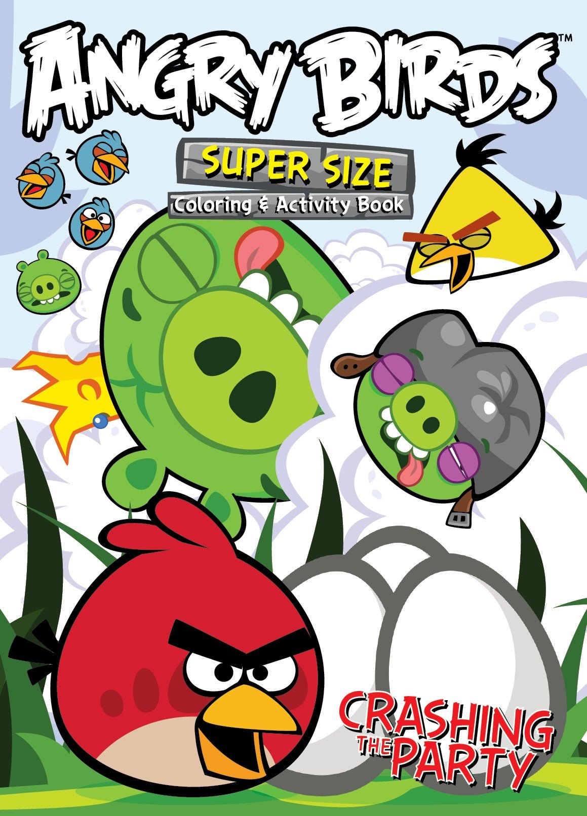 - Angry Birds Super Size Coloring And Activity Book-Crashing The