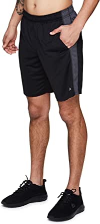 RBX Active Men's 9-Inch Inseam Workout Running Gym Athletic Basketball Shorts with Pockets