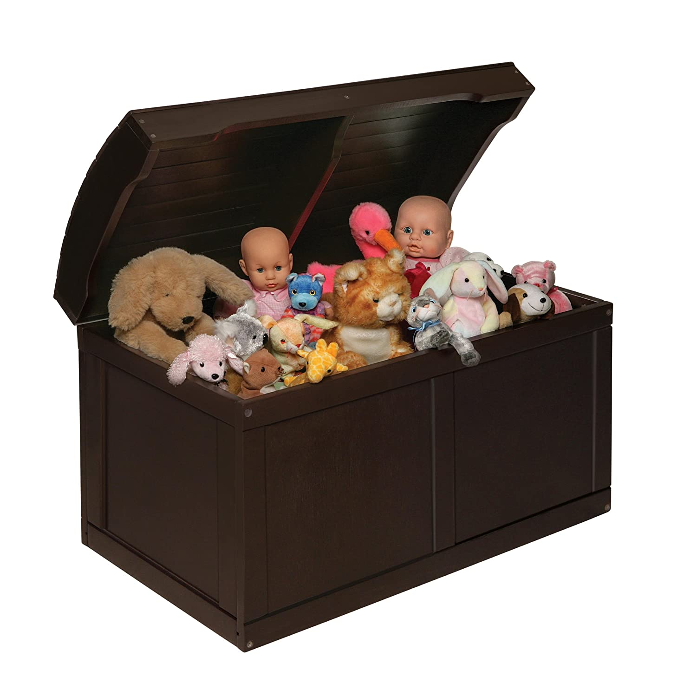 Amazon.com : badger basket barrel top toy box, espresso : toy ...