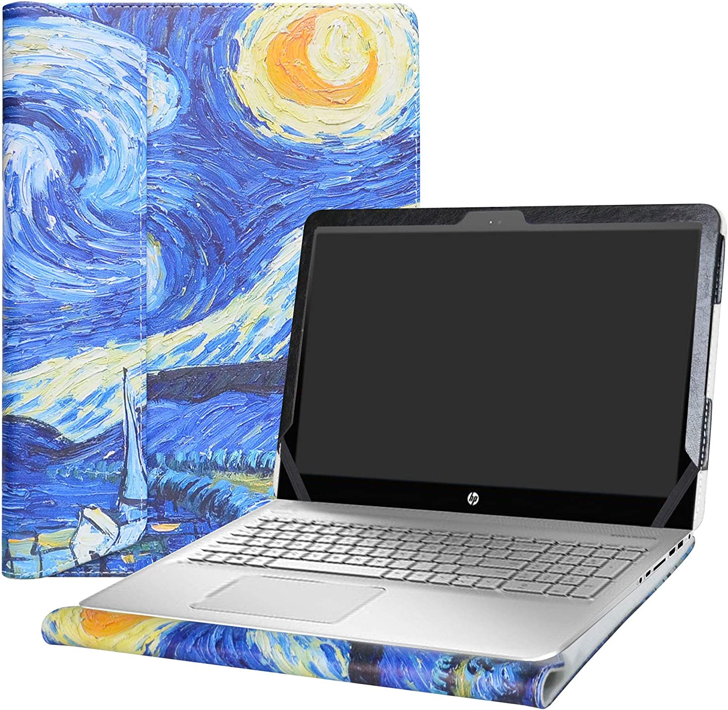 """Alapmk Protective Case Cover for 15.6"""" HP Envy 15 15-asXXX (15-as000 to 15-as999,Such as 15-as020nr 15-as120nr 15-as014wm) Laptop [Warning:Not fit Envy 15 15-aeXXX 15-ahXXX 15-kXXX],Starry Night"""