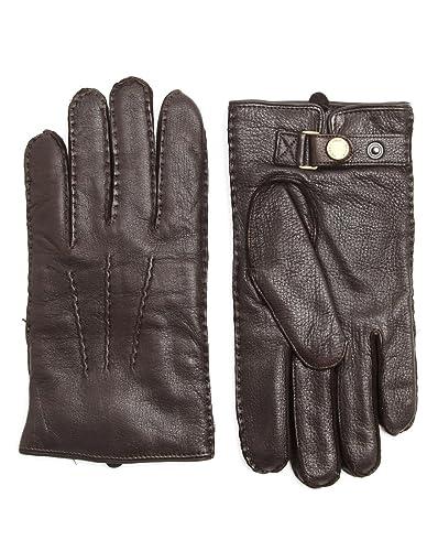 4b9aa377e4b154 POLO Ralph Lauren - Handschuhe - Herren - Braune Handschuhe Leder Kaschmir  - S: Amazon.de: Bekleidung