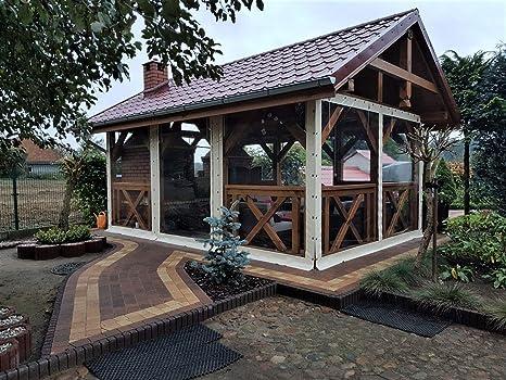 Cubierta de lona y PVC para terrazas y patios, protección contra el viento, protección contra la intemperie, pérgola, para el jardín 650 g/m², 1 m²