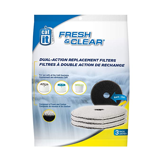 Cat it Recarga de 3 filtros Fresh Clear para Fuente para Gatos compacta