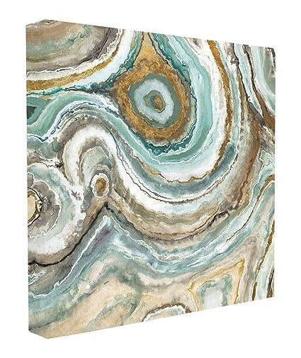 Amazon Stupell Home Decor Aqua Geode Stone Oversized Stretched