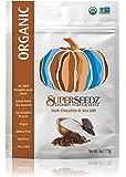SuperSeedz Gourmet Pumpkin Seeds, Dark Chocolate & Sea Salt, 4 Ounce (Pack of 6)