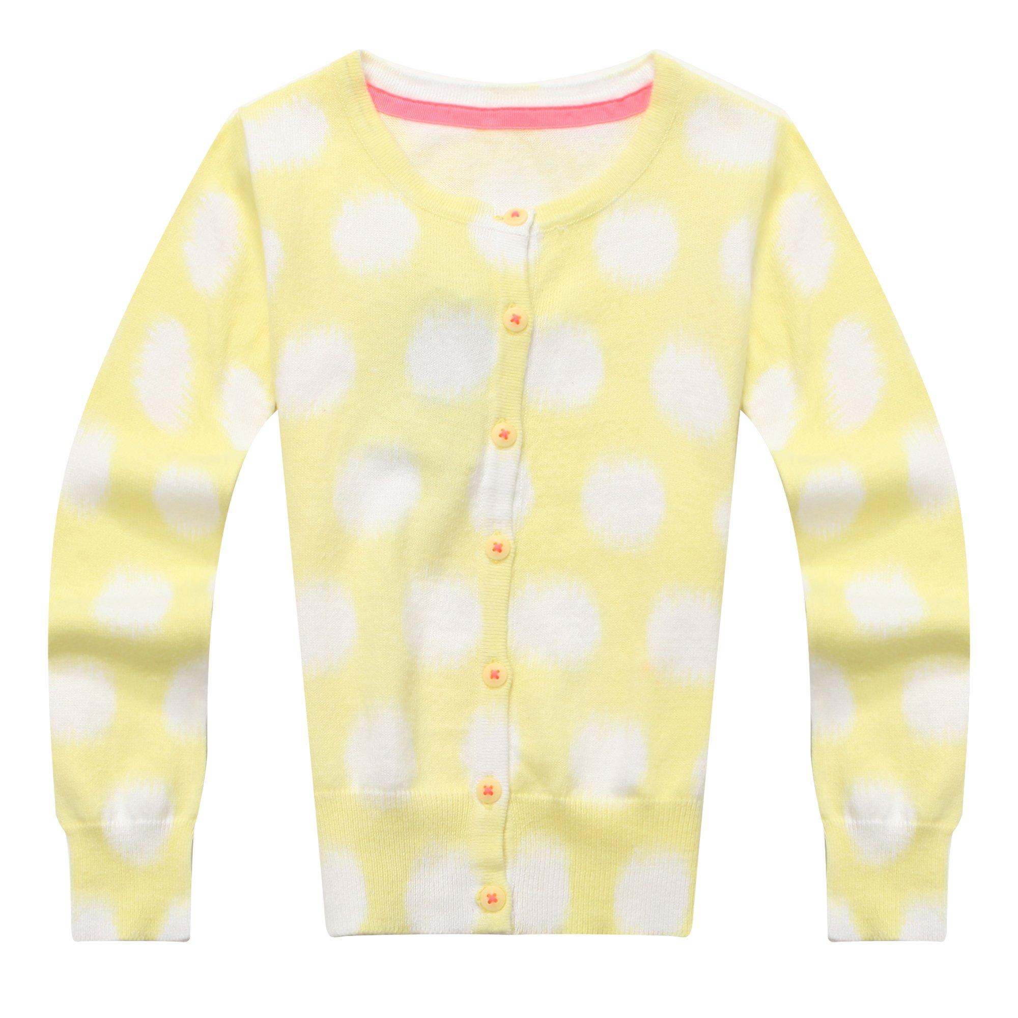 Richie House Little Girls' Cardigan in Dot Printing RH1102-3/4