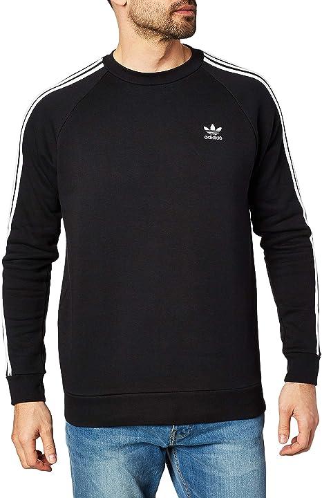 Details zu Adidas Men Essential 3S Crew Shirts LS Black Navy
