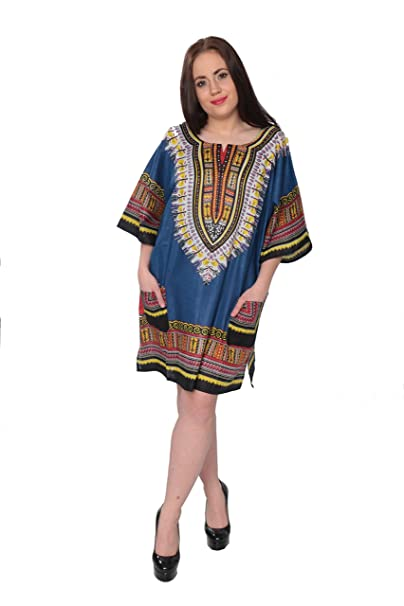 12d4a4f5bff ABC Dashiki-Style Unisex Tunic One Size Fits Most at Amazon Women s  Clothing store