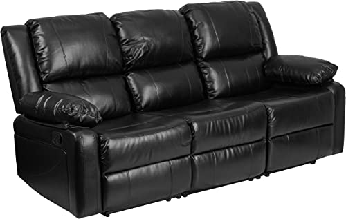 Flash Furniture Harmony Series Black LeatherSoft Sofa