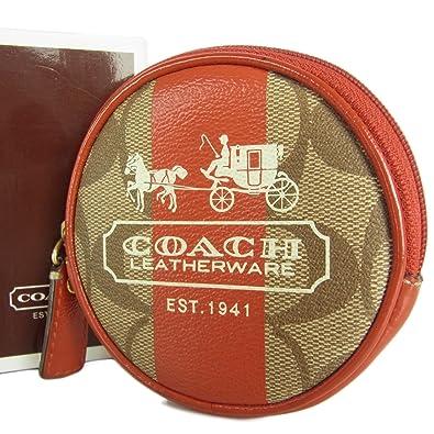 fbd44f9ebcc4 カラー:. (コーチ) COACH シグネチャー ヘリテージ ストライプ PVC 丸型 コインケース 財布 箱付き ベージュ