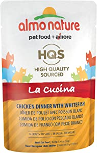 Almo Nature HQS La Cucina Natural Grain Free Wet Cat Food Pouches (Pack of 24 pouches 1.94oz each )