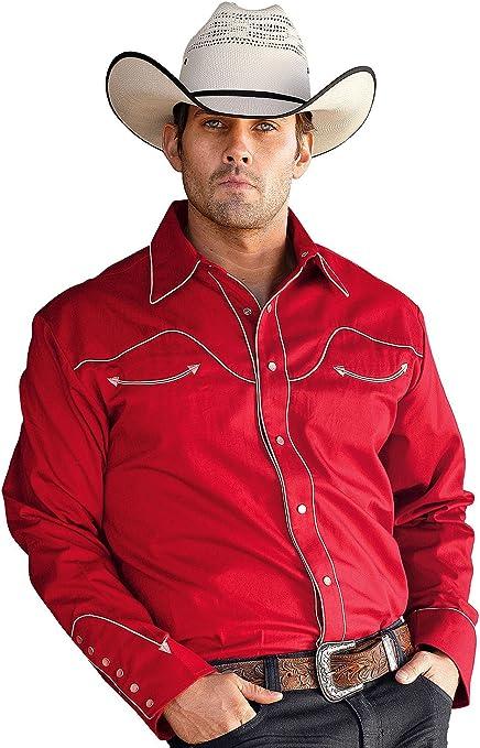 STARS & STRIPES - Camisa Casual - para Hombre Rojo Small: Amazon.es: Ropa y accesorios