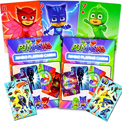 PJ Masks Playing Cards Set -- 2 Decks and Stickers (PJ Masks Card Games