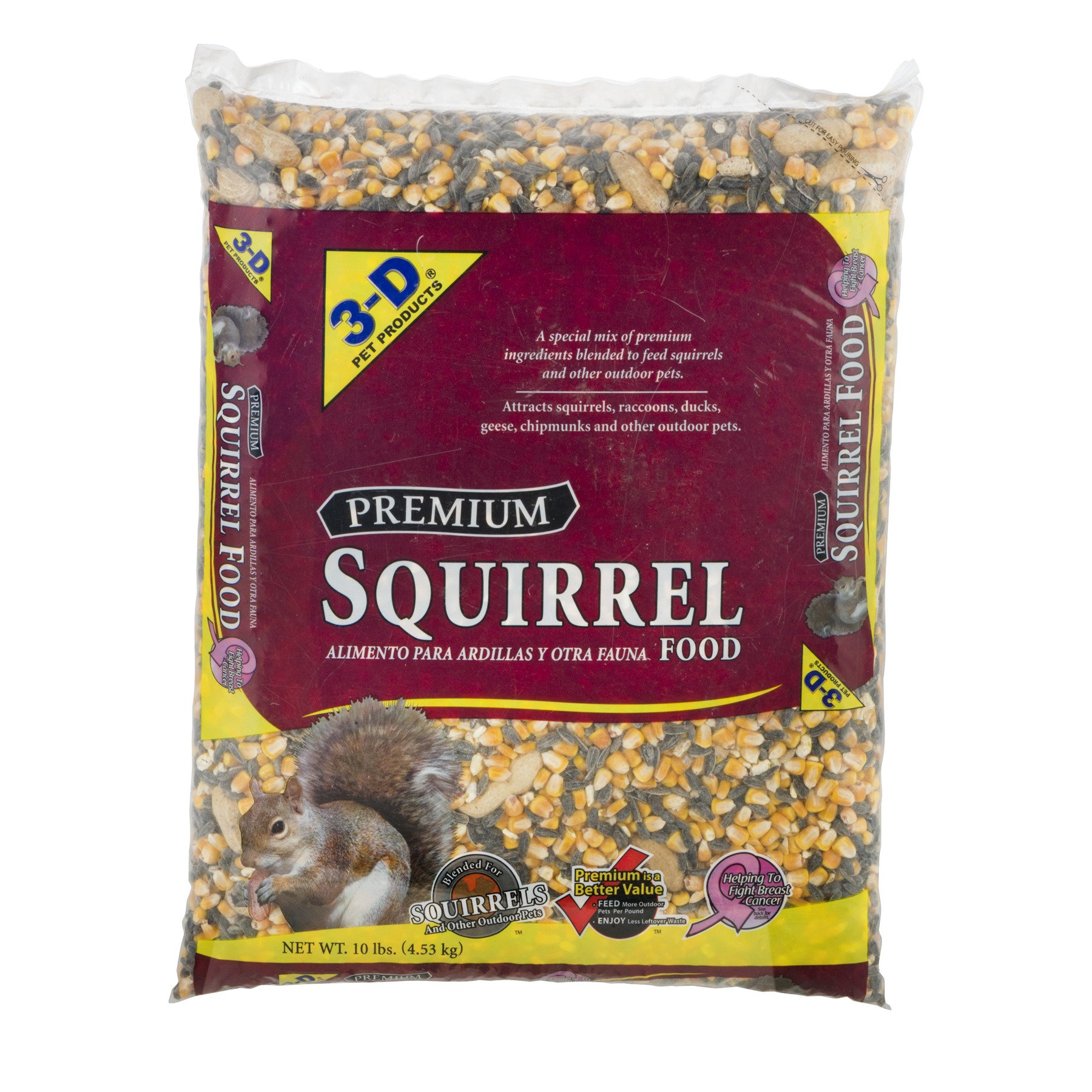 3-D Pet Products Premium Squirrel Food Dry Squirrel Food, 10 LB