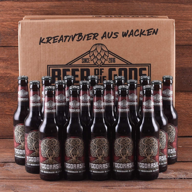 Wacken Brauerei Yggdrasil - Pack de cerveza casera ale roja - 20 botellas de 0,33 l: Amazon.es: Alimentación y bebidas