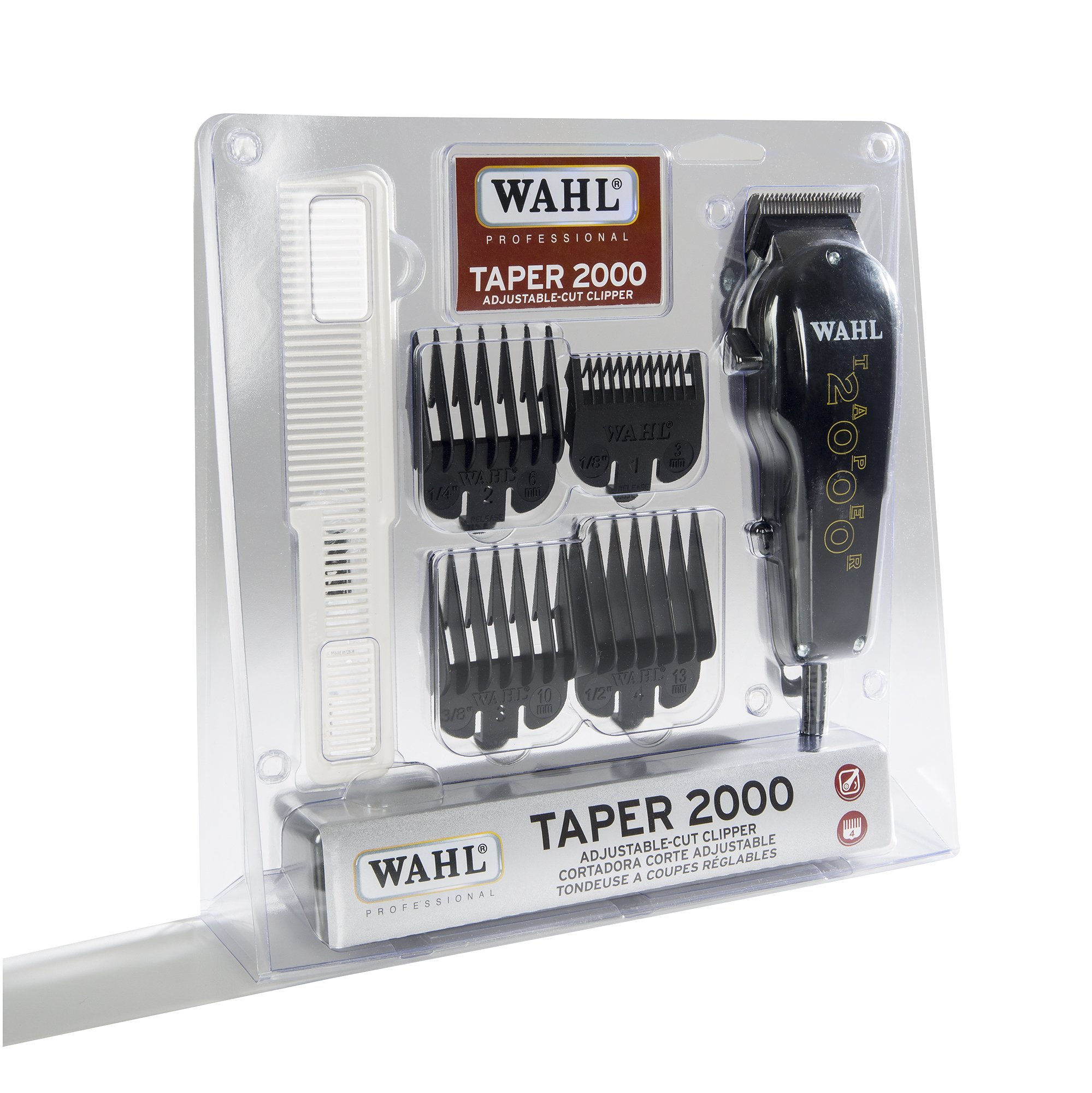 Wahl Professional Taper 2000 Adjustable Cut Clipper #8472-850 - Black Blade Attachments by Wahl Professional