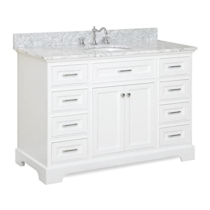 Exceptionnel Aria 48u0026quot; Bathroom Vanity (Carrara/White)