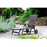 Gartenliege Relaxliege Rattan- Optik