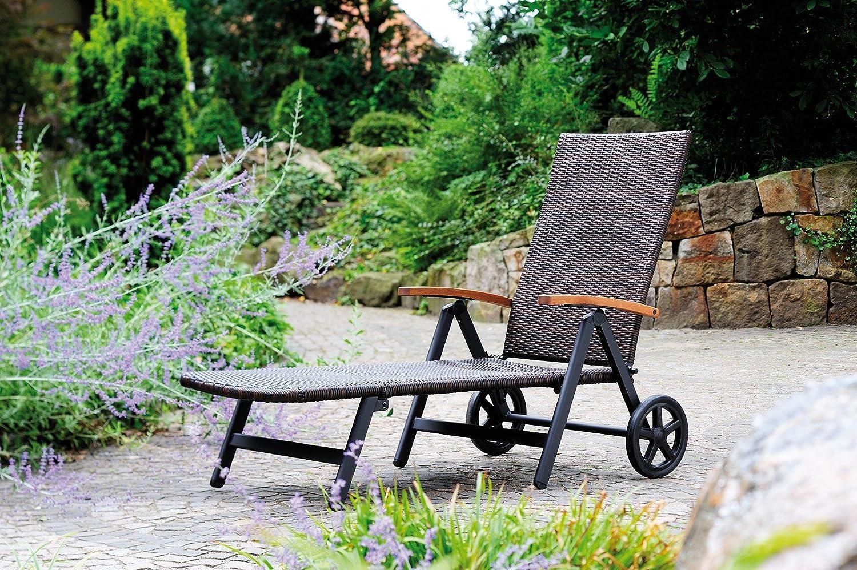 Amazon.de: Gartenliege Relaxliege Rattan- Optik