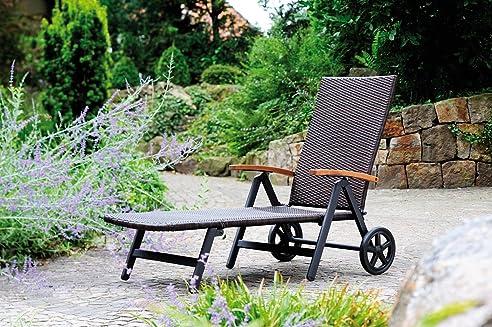 Gartenliege rattan optik  Amazon.de: Gartenliege Relaxliege Rattan- Optik