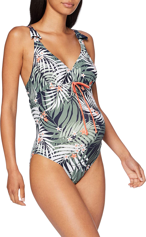 MAMALICIOUS Damen Mlrussel Palm Swimsuit Nf Badeanzug