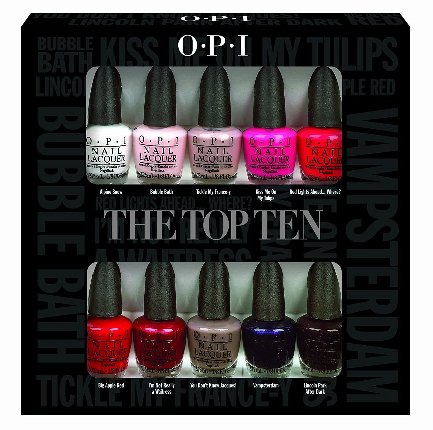 OPI Nail Polish Lacquer - The Top Ten Mini Gift Set: Amazon.co.uk ...