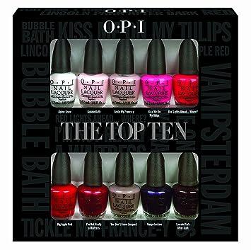 OPI Nail Polish Lacquer - The Top Ten Mini Gift Set: Amazon.ca: Beauty