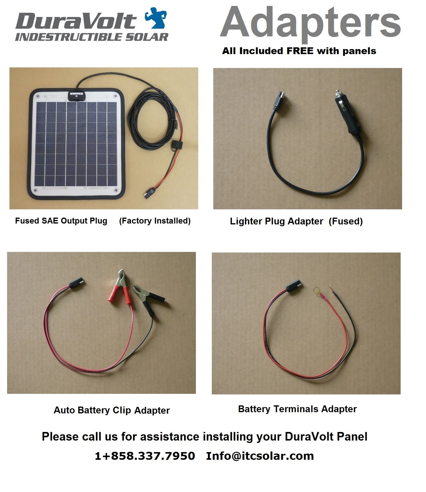 NOW 20 Watt 1.0 Amp - Solar Battery Charger - Boat, RV, Marine & Trolling Motor Solar Panel - 12 Volt - No experience Plug & Play Design. Dimensions 14.1'' L x 15.7'' W x 1/4'' Thick. 10' cable. by DuraVolt (Image #2)