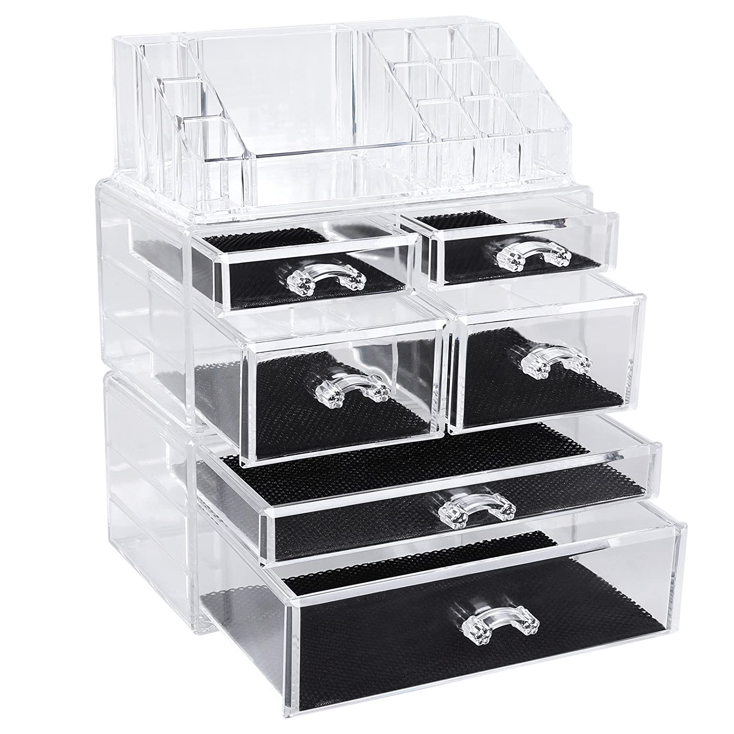 Songmics Acrylic Clear Makeup Organiser Cosmetic Storage Makeup Case 3