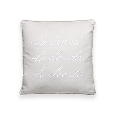 Kate Spade New York La Dee Da 16  Square Decorative Pillow Platinum Bedding, 16X16