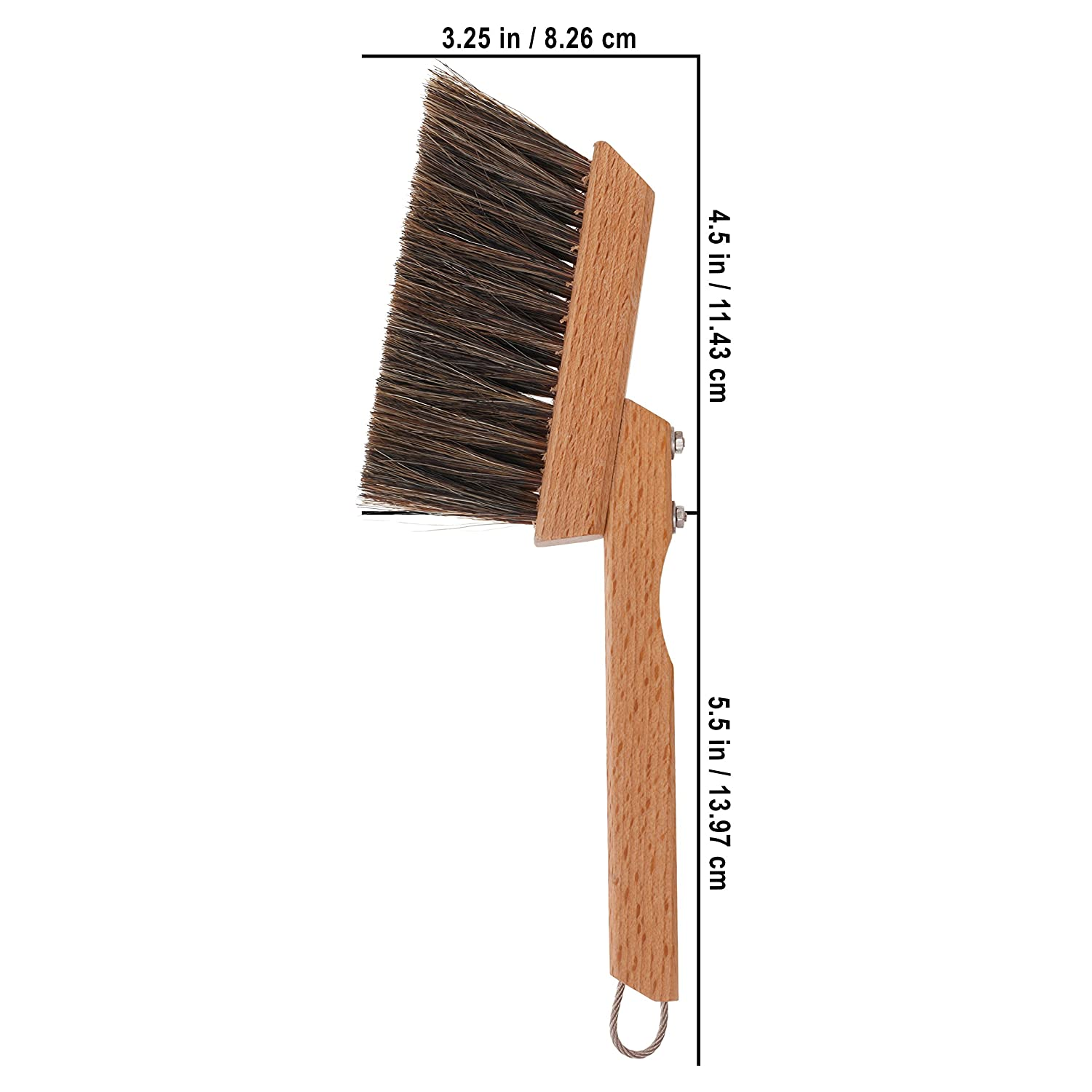 Redecker Stainless Steel Espresso//Coffee Dust Pan with Oiled Beechwood Handle 9-Inches Length 757023