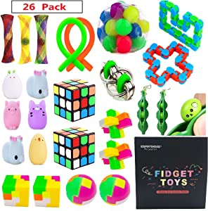 EDsportshouse Sensory Toys Bundle-Stress Relief Fidget Hand Toys for Kids and Adults,Sensory Fidget and Squeeze Widget for Relaxing Therapy-Perfect for ADHD Anxiety Autism