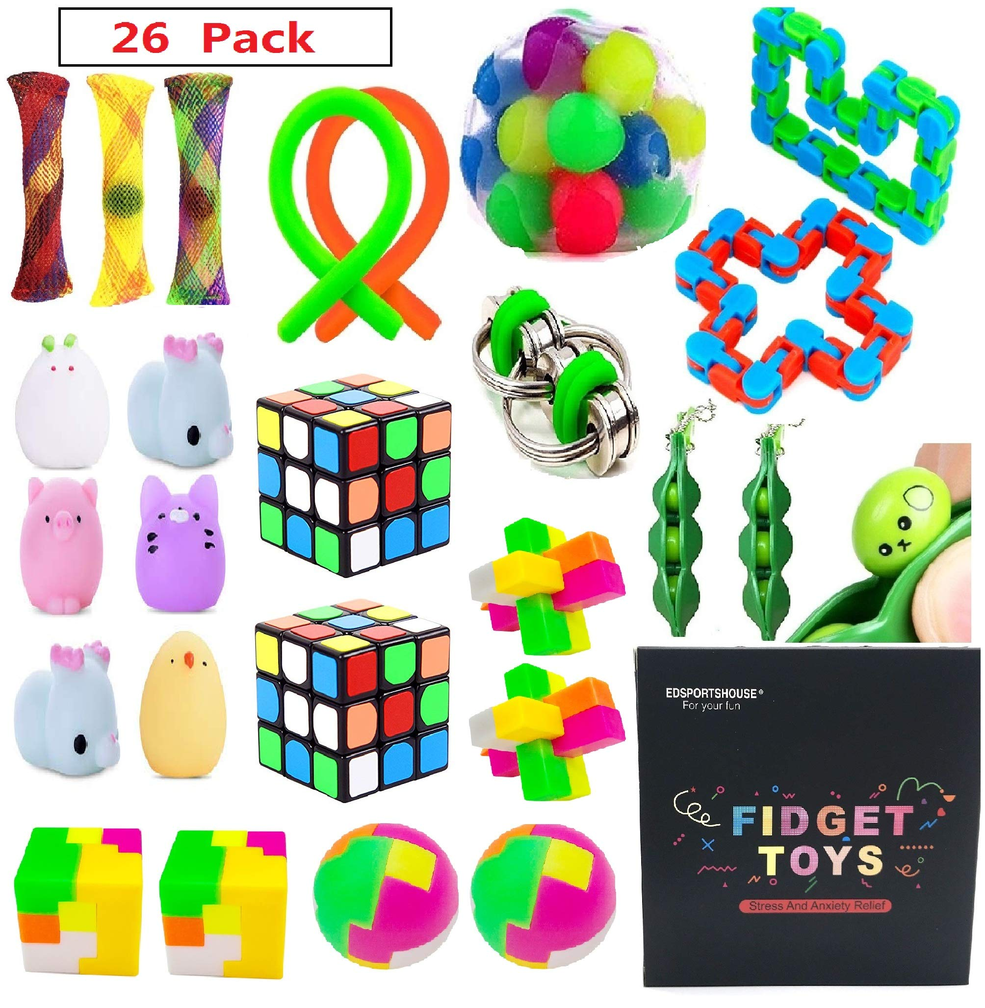 EDsportshouse Sensory Toys Bundle-Stress Relief Fidget Hand Toys for Kids and Adults,Sensory Fidget and Squeeze Widget for Relaxing Therapy-Perfect for ADHD Anxiety Autism by EDsportshouse