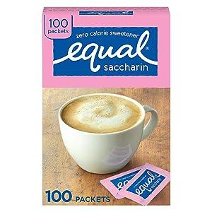 EQUAL 0 Calorie Sweetener, Pink, Sugar Substitute, Zero Calorie Sugar Alternative Sweetener Packets, Sugar Alternative, 100 Count (Pack of 12)