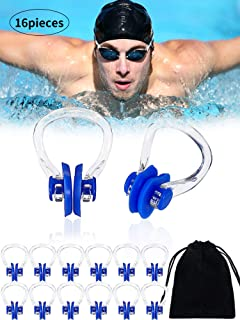 Nose Clip and Earplug Sets Color Zebra Swimming Nose Clip and Ear Plugs Kit Soft Silicone Ear Nose Protector Swimming Supplies with Storage Box Swimming