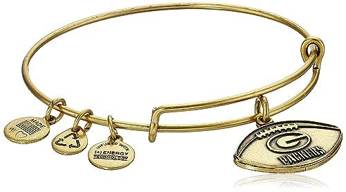 bdbace0d7 Alex and Ani Green Bay Packers Football Expandable Rafaelian Gold Bangle  Bracelet